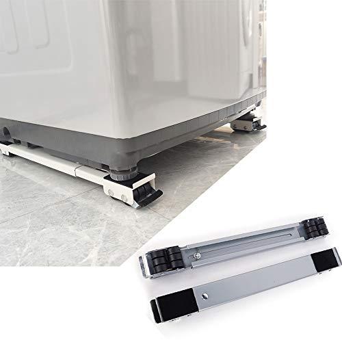 Waschmaschine verschiebbar Sockel mit Schwenkräder,verstellbare Untergestell für Kühlschrank/Trockner,Multifunktionale Möbel Dolly Roller Base Einstellbare,Waschmaschine Podeste Rahmen