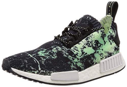 adidas NMD_R1 Primeknit BB7996 Herren Low-Top Sneakers (38 EU, Black White Green)
