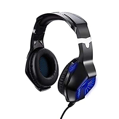 TeaBoy USB + 3.5mm Gaming Headset for Xbox One/PS4 Controller, PC, Wired Surround Sound Gaming Headphones with Noise Cancelling Mic, Headset for Nintendo Switch/3DS, Mac, Computer Games