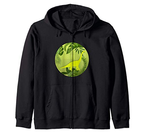 Vegan Dinosaur Herbivore Funny Cute Vegetarian Gift Zip Hoodie