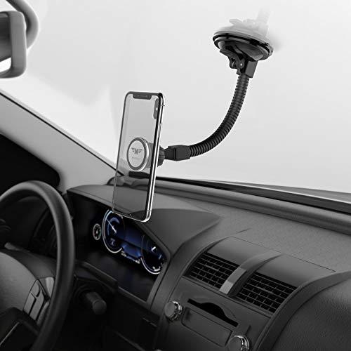 MONTOLA Magnetische Handyhalterung Windschutzscheibe mit Saugnapf SCHWANENHALS - Autohalterung Handy - Handyhalterung mit Magnet fürs Auto - kompatibel mit iPhone 7 7S 7Plus 6 S 8s 9s X XR XS Max