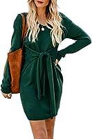 SIDEFEEL Damen Strickkleid Einfarbig Pulloverkleid Pullikleid Winterkleider Strickpullover Kleid Pullover Kleid Sweater...