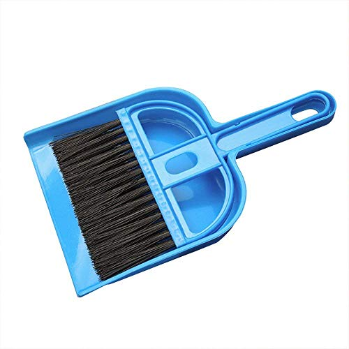 Fliyeong Escoba multifunción, recogedor, Mini Cepillo de Limpieza para Teclado de Coche, para Oficina, hogar, Coche, Uso de Teclado 1 Pieza, Color Azul