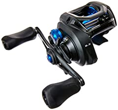 The Shimano SLX is an incredibly sleek looking baitcaster with a stunning matte black finish and beautiful blue accents This reel is 22% more compact than the Caenan Baitcaster but its small size does not mean it lacks in strength; and with an amazin...