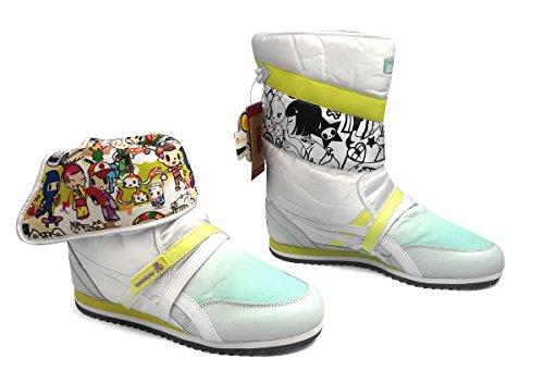 Asics Onitsuka Tiger Tokidoki Snowtopia Damen-Stiefel, Weiß/Grün, Weiß/Lime (6, Weiß/Limette)