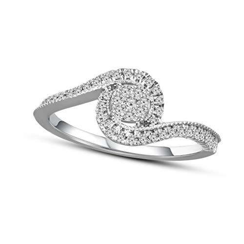 Mothers day gifts Diamond Ring for Mom Natural Diamond Ring 1/3 ct Engagement Halo Diamond Ring For...