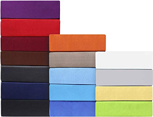 leevitex MIKROFASER Spannbettlaken, Spannbetttuch 100% Baumwolle in vielen Größen und Farben MARKENQUALITÄT ÖKOTEX Standard 100 (schwarz, 180x200-200x200 cm)