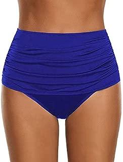 BEESCLOVER Women's High Waisted Swim Bottom Ruched Swimsuit Briefs Plus Size high Waisted Sexy Bikini Set