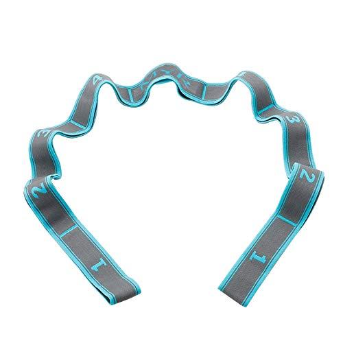 Yoga Stretching Band, Yoga Stretch Gurt mit 9 Schleifen Waschbarer, Leicht zu Tragender und Hochelastischer Stretchgurt, Ideal für Heißes Yoga, Körperliche Therapie, Größere Flexibilität
