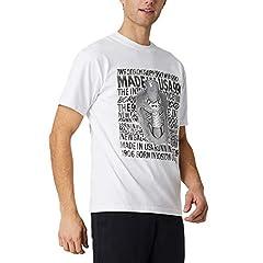 New Balance Camiseta Manga Corta Hombre Kenji MT01522 Blanca