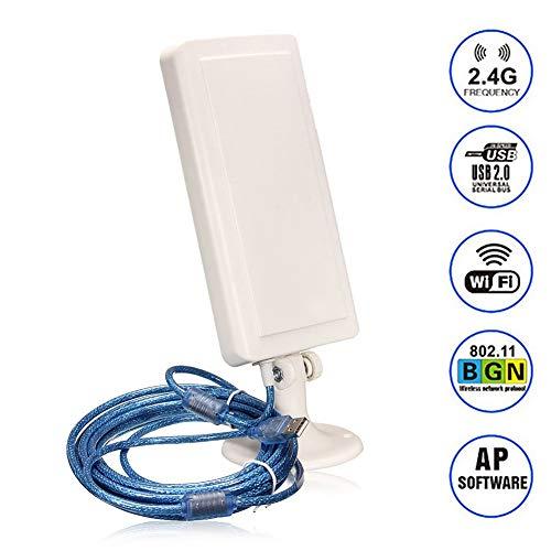 WiFi-antenne Buitenontvanger 2500m Lange afstand Draadloze versterker Wifi Signaalverlenger USB-adapter,Black