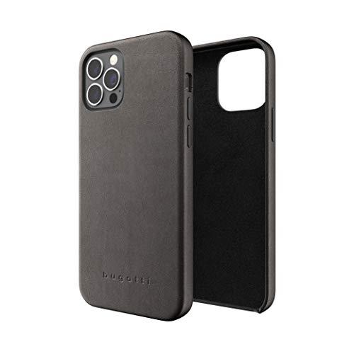 Bugatti Kompatible mit iPhone 12 Hülle, iPhone 12 Pro Handyhülle 6.1 Zol, 360 Fall Getestet Premium Leder Handyhalter, Schwarz