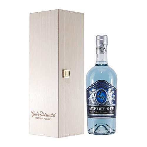 Lebensstern Alpine Gin mit Geschenk-Holzkiste