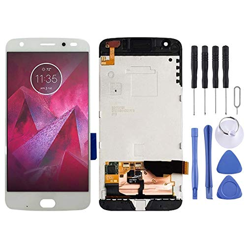 YIHUI Repare Repuestos Pantalla LCD y ensamblaje Completo del digitalizador con Marco for Motorola Moto Z2 Force XT1789 (Blanco) Partes de refacción (Color : Black)