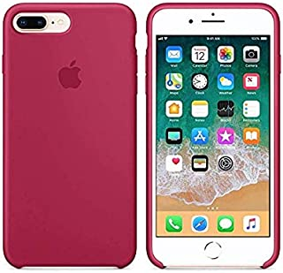 8fe28cb89f8 Desconocido Funda para iPhone, Silicona Burdeos Granate Roja Logo Apple  Carcasa iPhone Rojo Vino (