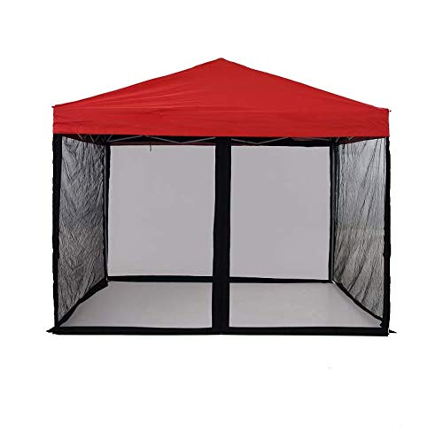 Mosquito Netting with Zipper for 9.6 feet9.6 feet6.3 feetOutdoor Pop Up Canopy Tent, DIY Canopy Screen Walls for Patio Gazebo Canopy(Only Mosquito Net, Outdoor Tent Not Including)