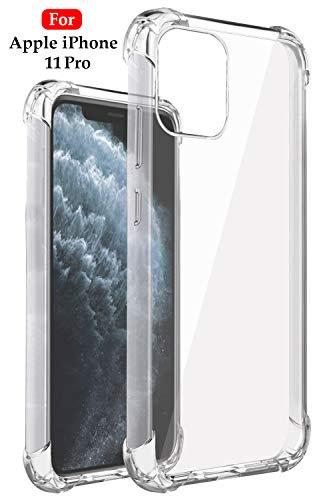 Jkobi Silicon Flexible Shockproof Corner TPU Back Case Cover For Apple iPhone 11 Pro Max -Transparent