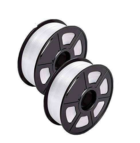 Filament 1.75 PLA 3D Filament PLA Plus for 3D Printer & 3D Pens, PLA Filament Weight 2.2 LBS (1 KG), Printing Accuracy +/- 0.02 (White)