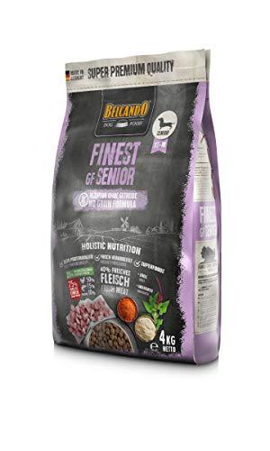 Belcando Finest GF Senior Comida para perros sin cereales, alimento seco para perros mayores sensibles, solo alimento para perros a partir de 1 año