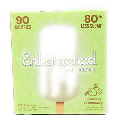 Enlightened Ice Cream, Fruit Bar Infusion Coconut, 10 Fl Oz