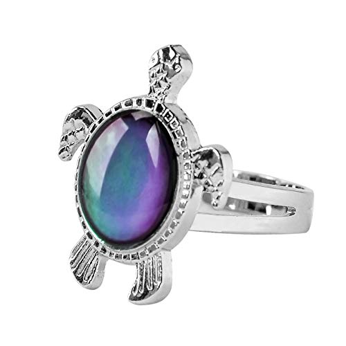 Mood Ring Color rings Adjustable Size The Decorations girls kids(Turtle)