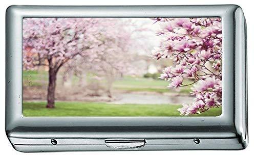 Rosa Blumen Foto 1083822 Zigarettenetui / -schachtel Visitenkartenetui Edelstahlgehäuse Silber Metall Brieftasche Schutz