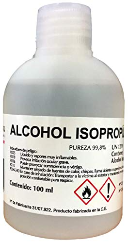 Alcohol Isopropilico-Isopropanol. 99,8%. Envase 100 mL.
