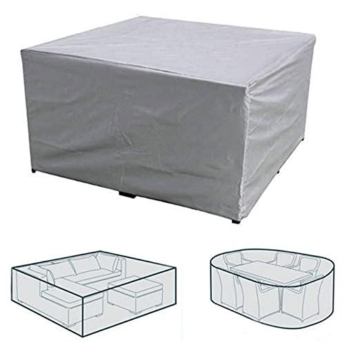 Copertura impermeabile per mobili da giardino, 170 x 94 x 70 cm, tessuto Oxford 210D, antivento, solare, color argento, per mobili da esterni, rettangolare in rattan, copertura per mobili