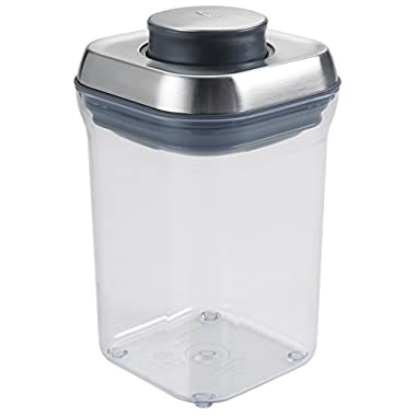 OXO SteeL POP Container – Airtight Food Storage – .9 Qt for Brown Sugar and More