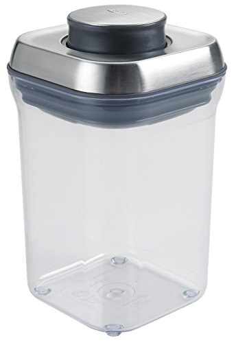 OXO SteeL POP - Contenedor hermético para alimentos, plástico, Plata, transparente., 3.2 L