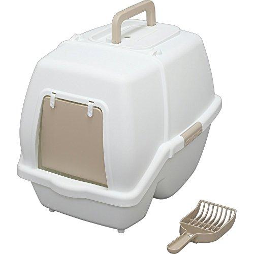 アイリスオーヤマ 猫用トイレ本体 掃除のしやすいネコトイレ (スコップ付き) ホワイト 53x40x42センチメートル (x 1)