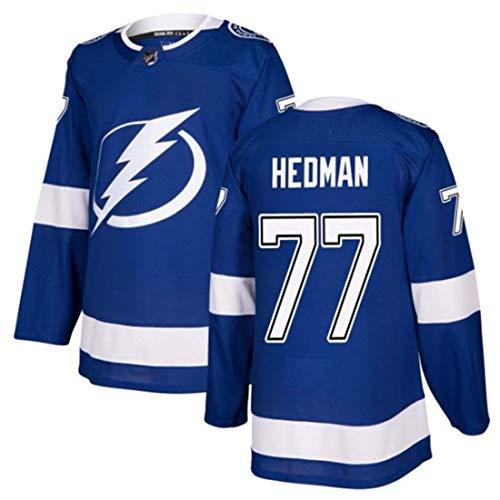 WXHJGY Eishockey Trikot Herren Sweatshirts Langarm # 86 Kucherov # 88 Vasilevskiy # 9 77# 91 Stickerei Edition Trikots Atmungsaktives Langarm Sport T-Shirt Top