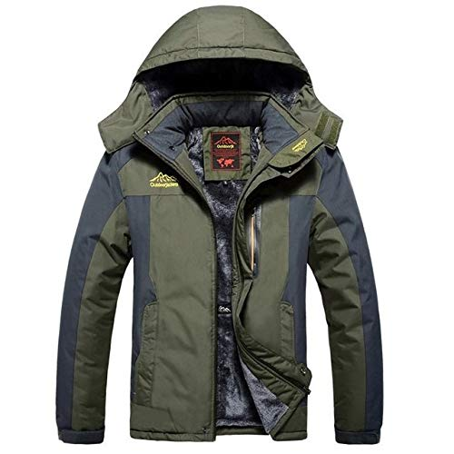 LEIXIN Leren jas Winter Fleece Militaire Jassen Mannen Winddicht Waterdicht Outwear Parka Windbreaker Warm Coat, Grootte: XXL, Blauw