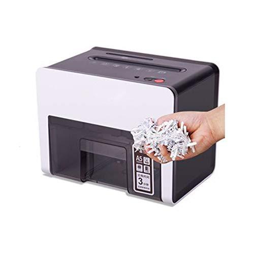 VOMI Partikelschnitt Aktenvernichter Leise KreditkartenP5 3X10mm, Papierschredder KleinElektrisch KreuzschnittDauerbetrieb 3Min, Reißwolf Automatischer Einzug2 Blatt A4, Papierkorb 2.5L,Schwarz