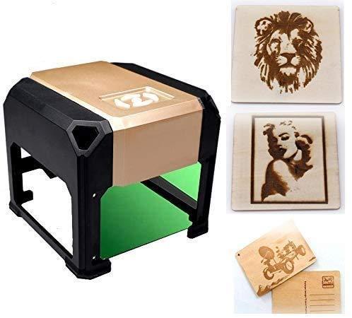 3000mW Laser Class 4 Engraving Machine Laser Engraver Printer Mini Desktop Laser Engraver Machine DIY Logo Laser Engraver 7.5X7.5CM (3000mW)