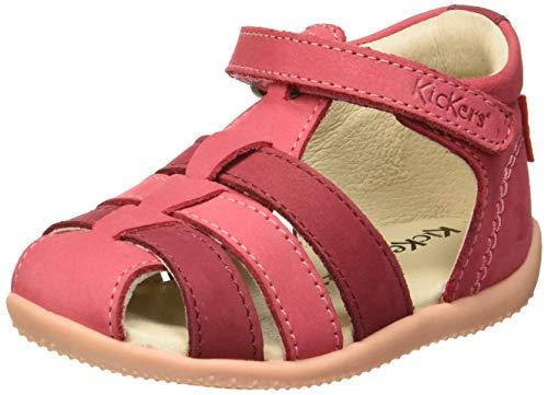 Kickers Baby Mädchen Bigflo Sandalen, Pink (Rose Multi 133), 23 EU