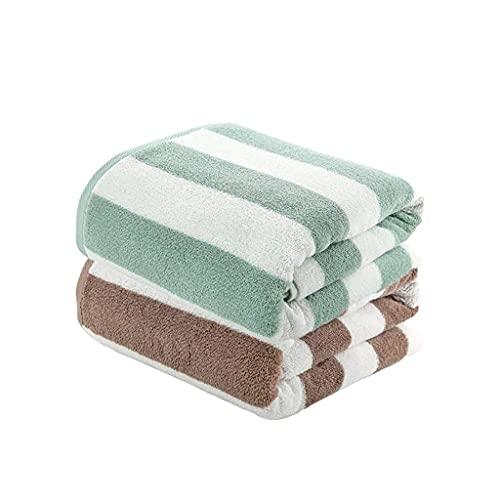 Toalla de baño Juego de 2 Piezas Toalla de Ducha Toallas de baño Toallas de Playa Toallas de algodón Suaves de Secado rápido Resistentes a la decoloración Toallas de baño para Piscina de Hotel (Colo
