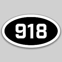DHDM 918 Area Code Sticker Oklahoma Tulsa Bartlesville Broken Arrow City Pride Love | 5-Inches by 3-Inches | Premium Quality Vinyl UV Resistant Laminate PD2604