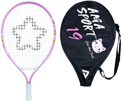Kids Tennis Racket for Junior Toddlers Starter 19 Pink for Youth Girl with Shoulder Strap Bag product image