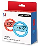 GH Steering Wheel for Nintendo Switch - Joy Con Wheel for Mario Kart 8 Deluxe Blue and Red