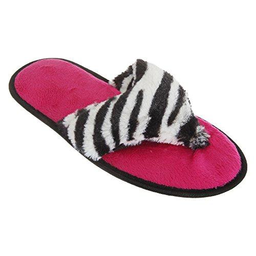 Comode Pantofole a Infradito - Donna (36 EUR) (Zebrato)