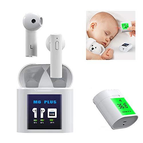 Elektronische Thermometer, draadloze hoofdtelefoon 2 in 1 Snelle lezen digitale temperatuur Meter voor Baby volwassenen of kinderen