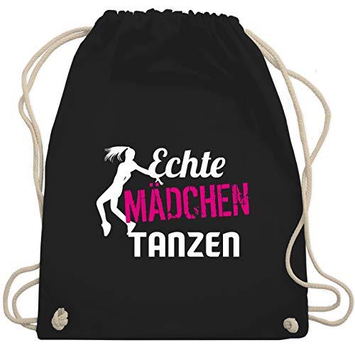 Shirtracer Tanzsport - Echte Mädchen tanzen - Unisize - Schwarz - echte mädchen tanzen - WM110 - Turnbeutel und Stoffbeutel aus Baumwolle