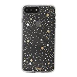 Sonix Starry Night Cell Phone Case Protective Gold Silver Stars Clear Case for Apple iPhone 6+, 7+, 8+