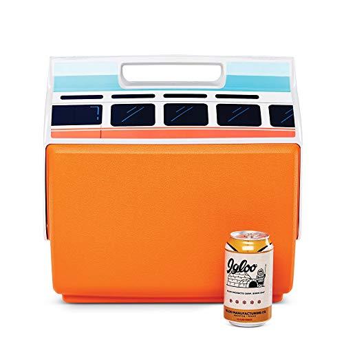 Igloo 48872 Lunchbox mit VW-Bus, 14 Liter, limitierte Auflage, tragbar, Playmate Kühlbox, Orange, klassischer VW orangefarbener Bus, groß