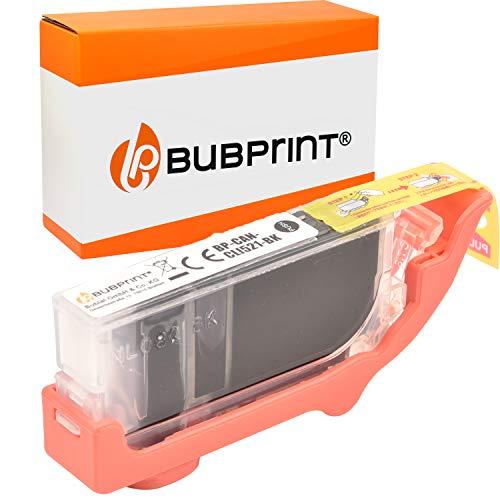 Bubprint Kompatibel Druckerpatrone als Ersatz für Canon CLI-521 CLI 521 BK für Pixma IP3600 IP4600 IP4700 MP540 MP550 MP620 MP630 MP640 MP980 MP990 Fotoschwarz