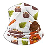 LinUpdate-Store Neck Gaiter, Japan Sushi Meal Janpanese Windproof Face Bandana Magic Scarf Cover Headwear For Men Women