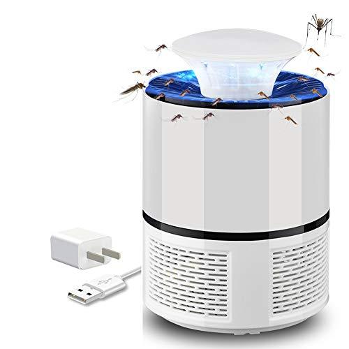 NAFE Moskito-Killer-Lampe, intelligente USB-Moskito-Killer-Moskito-Fanglampe, umweltfreundlicher LED-Insektenvernichter ohne Strahlung, Camping im Innen- und Außenbereich-White