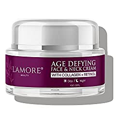 L'amore Beauty Collagen Retinol Cream (30 mL) Anti-Aging Day and Night Facial - Age Defying Skincare Firms and Lifts Wrinkles, Fine Lines - Hydrating Face Moisturizer For Women