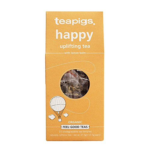 Teapigs Happy Herbal Tea Made with Whole Leaves (1 Pack of 15 Tea Bags), 37